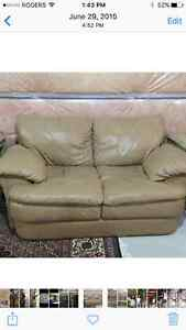 Moving Sale leather sofa set, Love seat and Chair London Ontario image 2