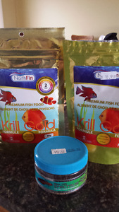 Northfin Krill Gold 1mm and 2mm Pellets Fish Food