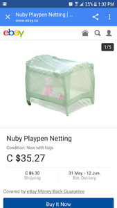 Mosquito netting for playpen