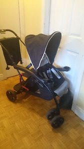 Safety first sit and stand double  stroller for sale