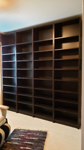 IKEA Billy Bookshelf black-brown 60 cm wide and 202cm+extension