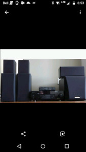 Kenwood 5.1 surrounded sound speakers