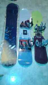 3 snowboards sizes 138, 145 and 159 great condition