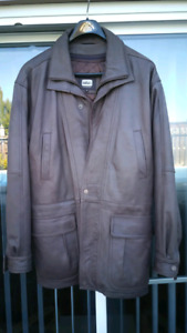 Men's Brown Leather Coat