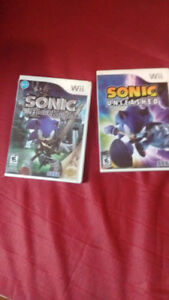 Wii games - sonic and the black knight- sonic unleashed