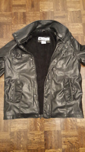 Mens Columbia leather winter coat! REAL LEATHER!