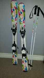 Youth skis, bindings and poles