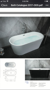 Free standing tub for sale for $799, floor stand faucet availabl