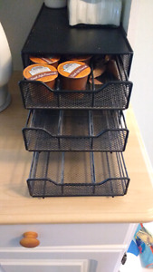 MUST GO!! 3 drawer K cup holder organizer $10 takes