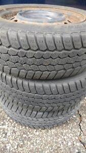 "15"" steels rims x 3 - Bonus Winter tires included - Reduced"