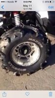 Canam tires an rims (holeshots) 120 obo