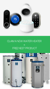 Old water heater upgrade + free NEST product