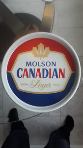 Vintage Molson Canadian Metal Serving Tray Excellent Condition