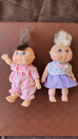 Cabbage Patch Dolls Miniature figures 1995 Mattel PLASTIC Toys small m