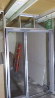 Steel studs and drywall