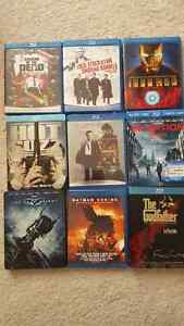 assorted action movie blu-rays