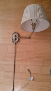 Two Tri light Touch Wall Light Fixtures Plug In