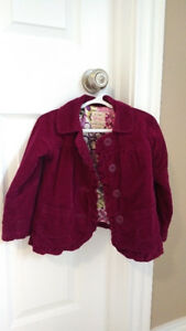 This is an awesome Burgundy Toddler Girl 3T Old Navy Fall Jacket