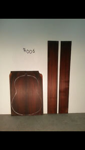 Brazilian rosewood back and side guitar luthier sets