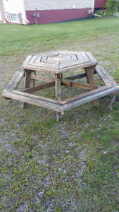6-sided picnic table $60
