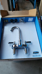Bar faucet and sink
