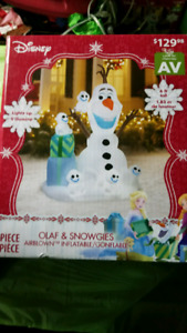 Brand New Olaf 6 Foot Christmas Decoation Inflatable
