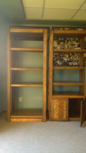 Solid Oak Book Cases, Shelving Units