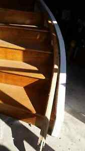 Curved Stairs White Oak w/ Newel Posts Curved Handrail Kingston Kingston Area image 5
