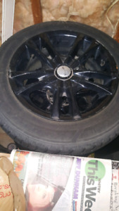 Aluminum rims with goodyear winter snow tires185/65 R15