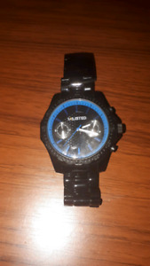 UNLISTED Black/Blue watch