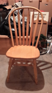 UNIQUE STYLED SOLID OAK CHAIRS - SET OF 2