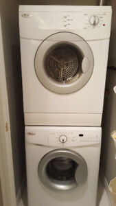 Whirlpool stacked washer dryer combo 24""