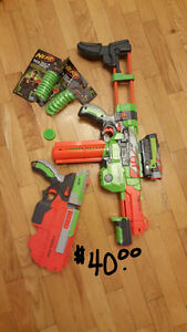 EUC nerf guns and ammunition $5-$40