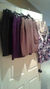 Skirts sz 8/10...long black med $10 each