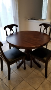 4-6 Extendable Dining Set $450 & Antique WalnutCoffee table $200