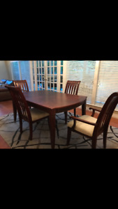 Beautiful 8 piece cherry wood dining set with buffet & hutch