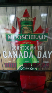 "MOOSEHEAD 24X24 LIGHTBOX SIGN""COUNTDOWN TO CANAD…  $70"