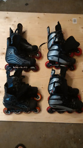 Various Hockey Roller Blades