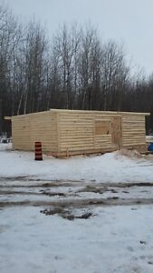 Log cabin walls