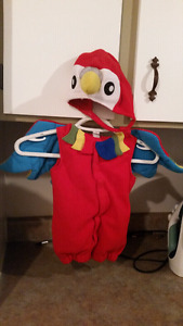 Parrot costume size 18-24 months