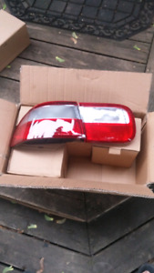 Clear red tail lights for 1992-1995 honda civic coupe sedan