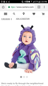 New! Butterfly baby costume size 9-12 months