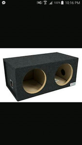 Two 12 inch Sony subs in box.