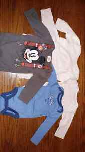 Baby T-shirts and long sleeve shirts 0-3 months