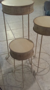 Set of 3 plant stand or use as nesting side tables