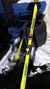 Skis, bindings, poles