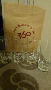 4PC CN TOWER GLASSES