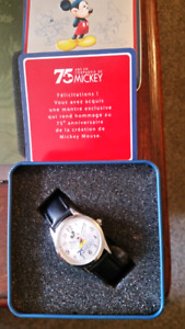 Mickey Mouse Watch in a tin  new