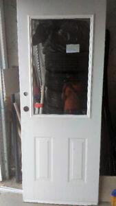 Steel Exterior 1/2 lite vent door