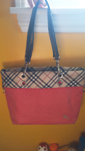 Authentic Burberry London BLUE LABEL canvas handbag